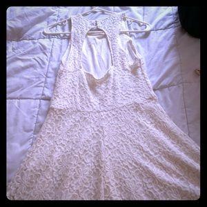 Hollister White, sleeveless lace dress